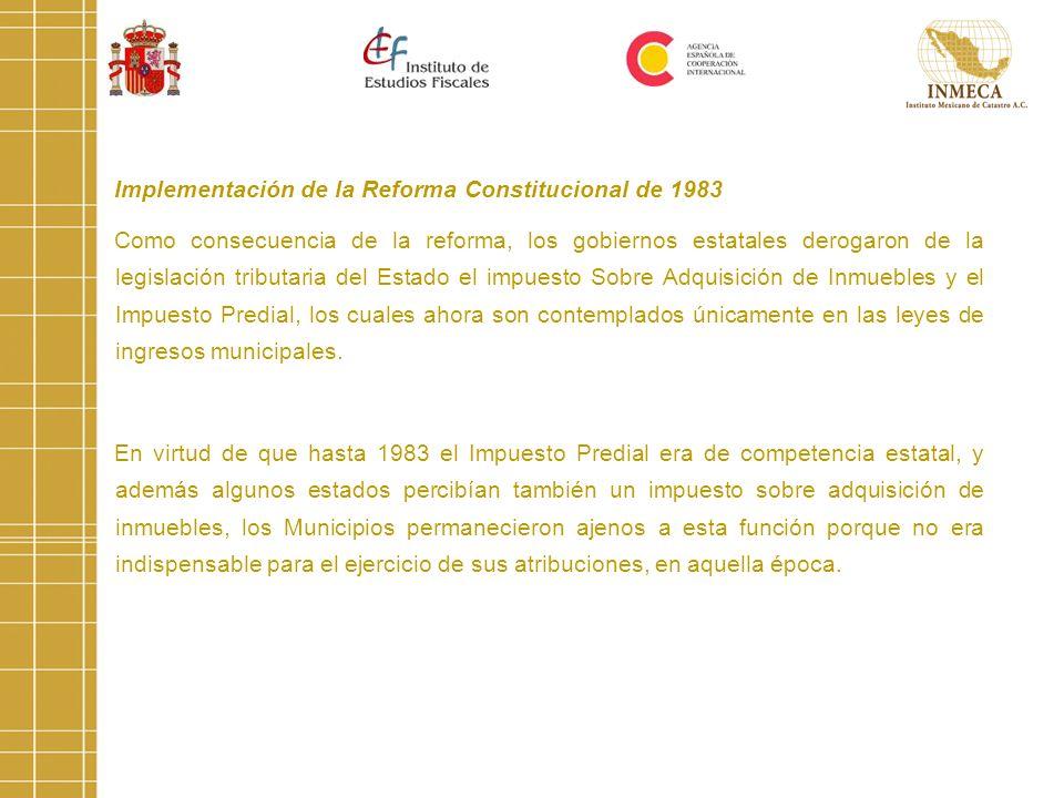 Implementación de la Reforma Constitucional de 1983
