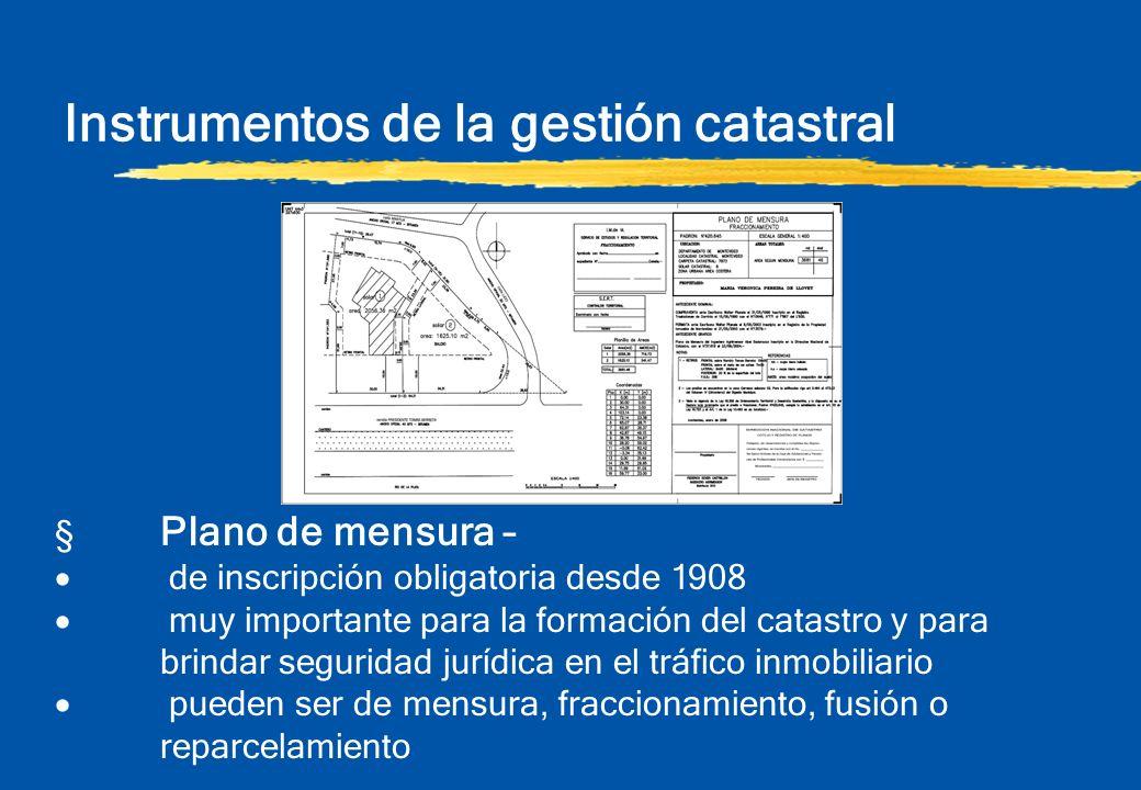 Instrumentos de la gestión catastral