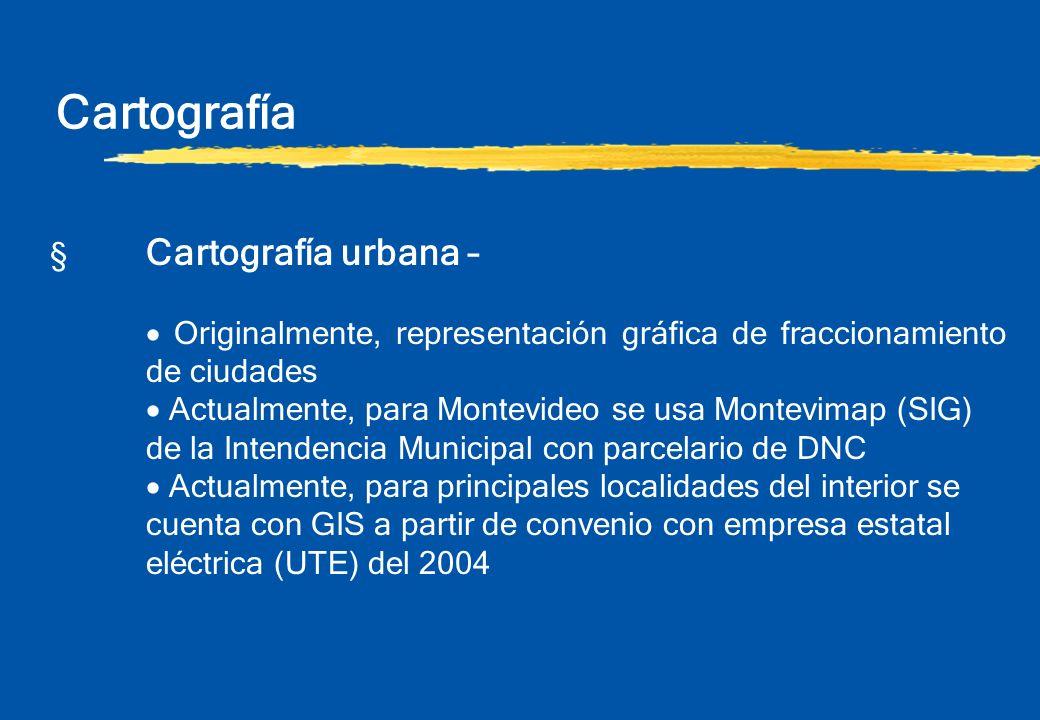 Cartografía § Cartografía urbana –