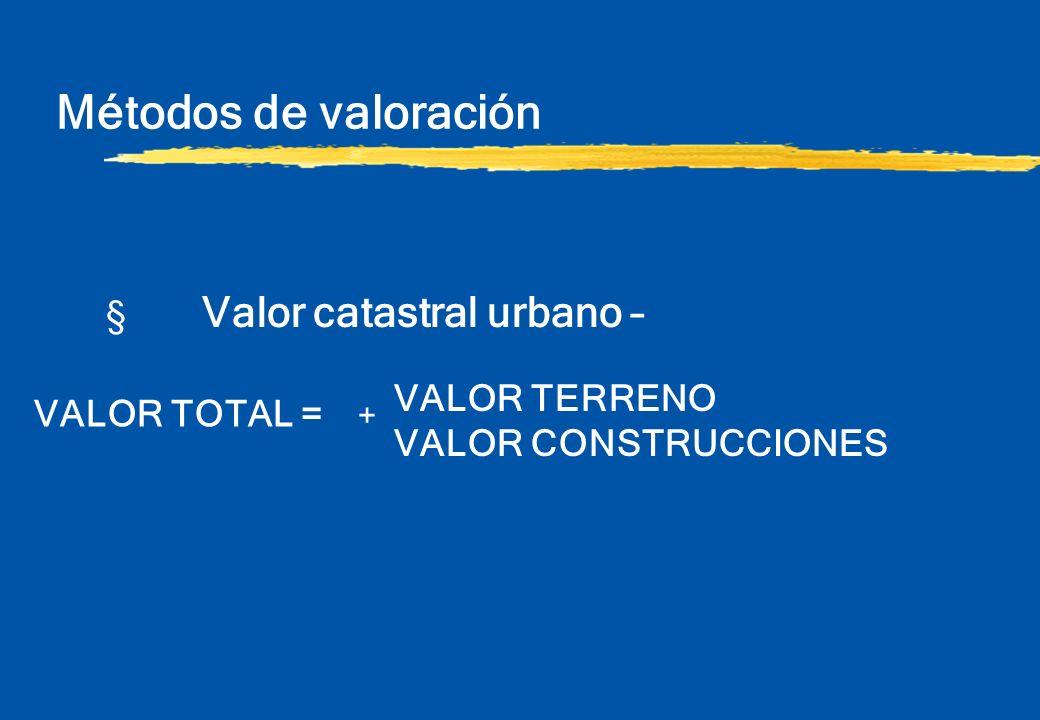 Métodos de valoración § Valor catastral urbano – VALOR CONSTRUCCIONES