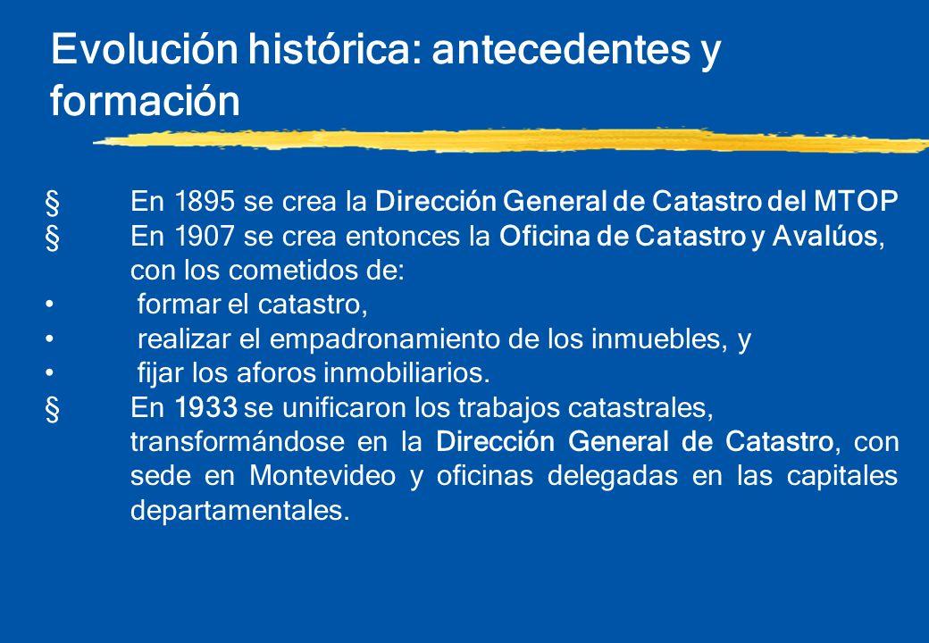 Evolución histórica: antecedentes y formación