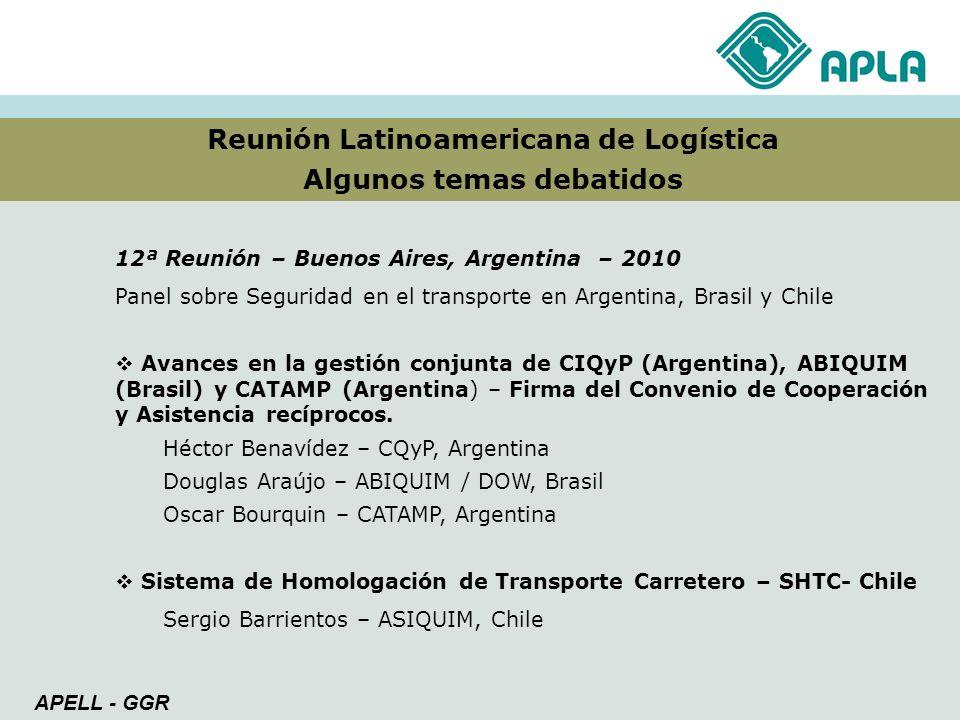 Reunión Latinoamericana de Logística Algunos temas debatidos