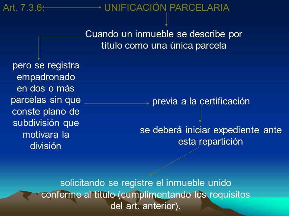 UNIFICACIÓN PARCELARIA