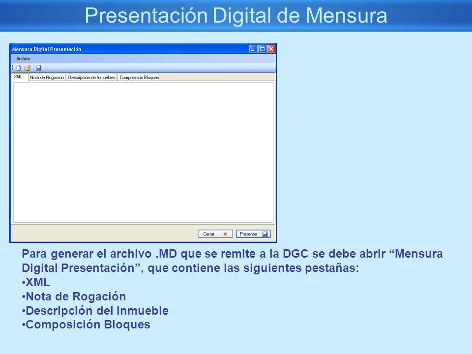 Presentación Digital de Mensura