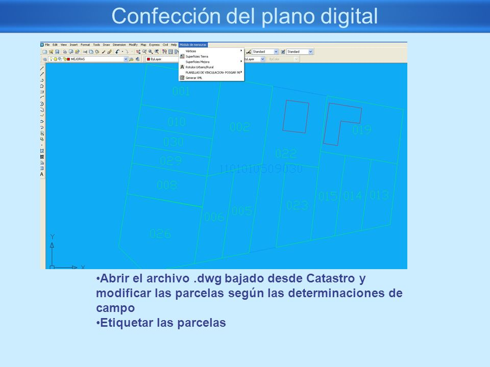 Confección del plano digital