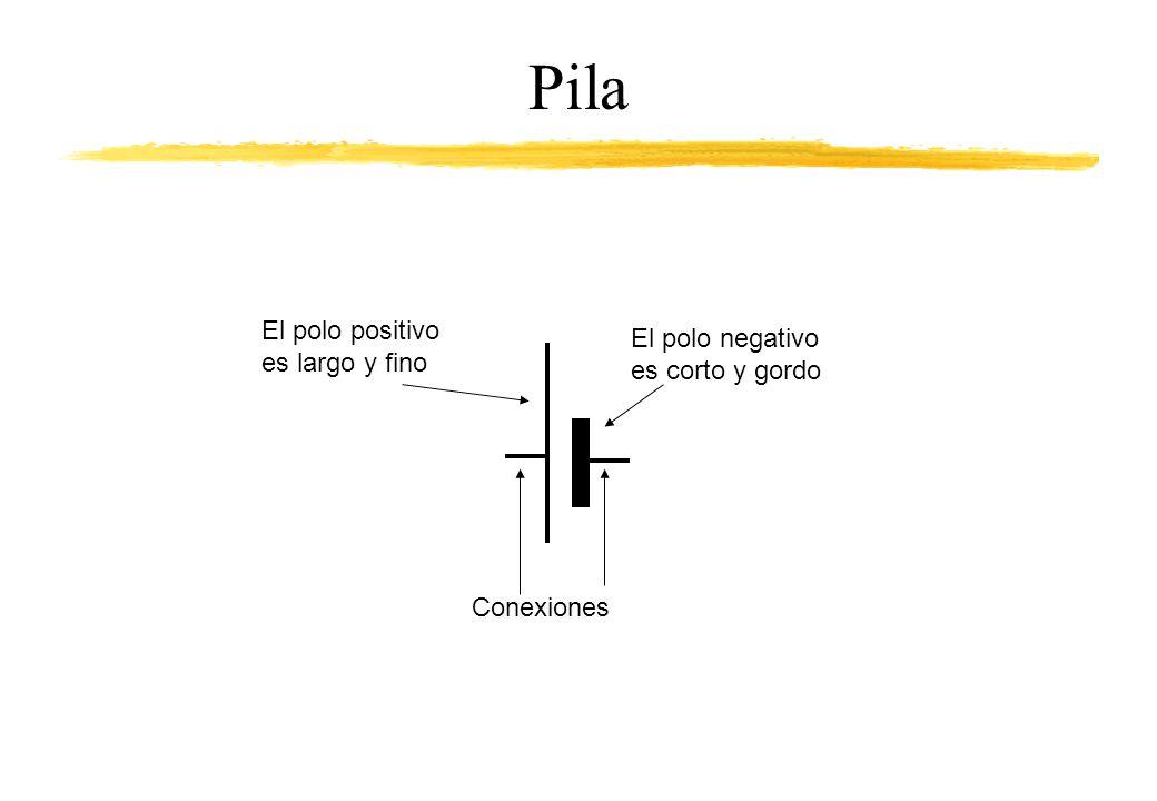 Pila El polo positivo es largo y fino