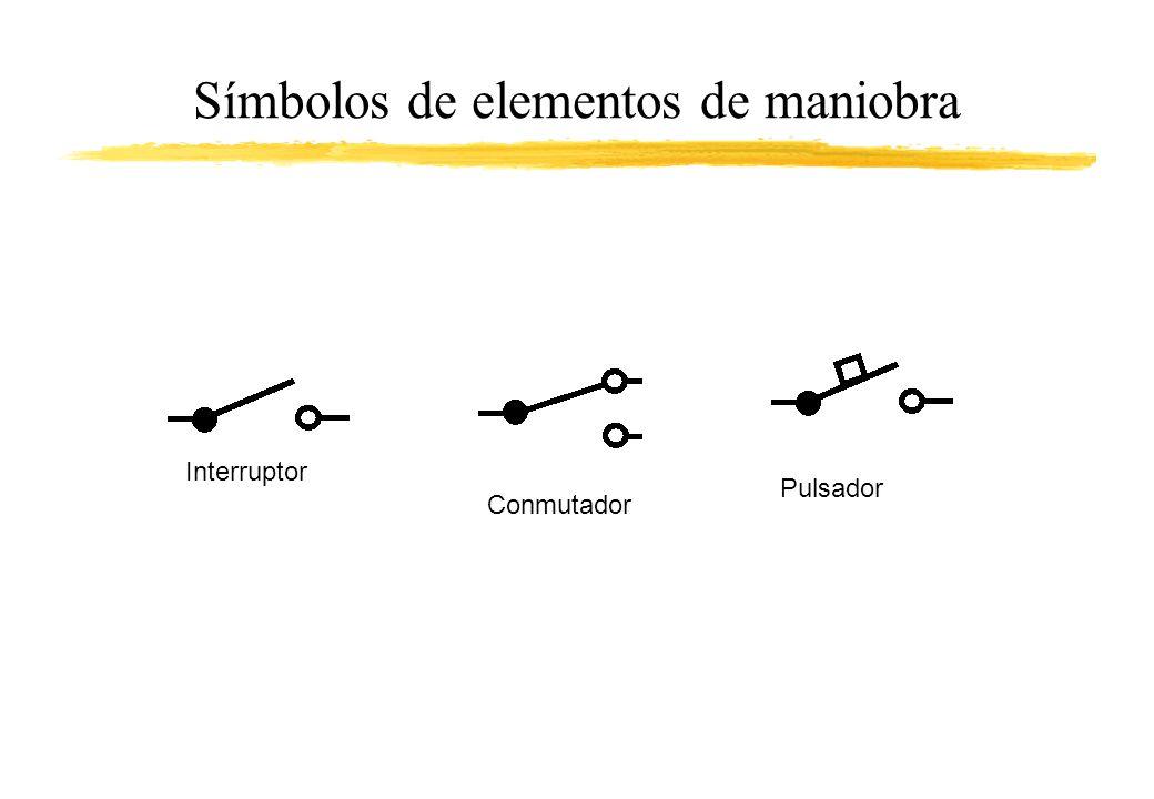 Símbolos de elementos de maniobra