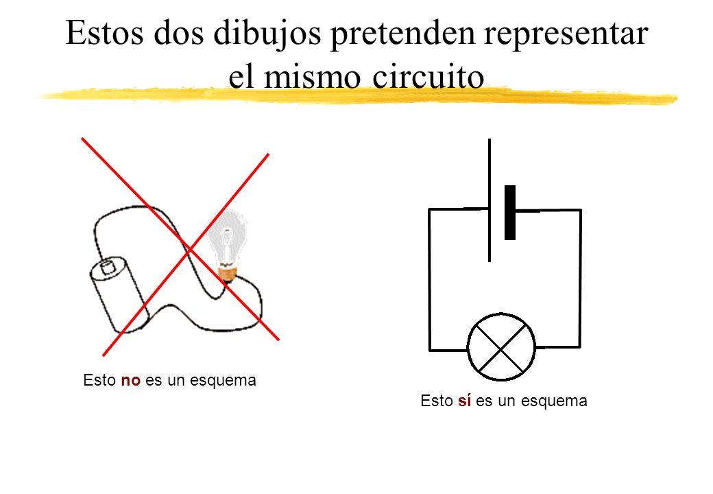 Estos dos dibujos pretenden representar el mismo circuito