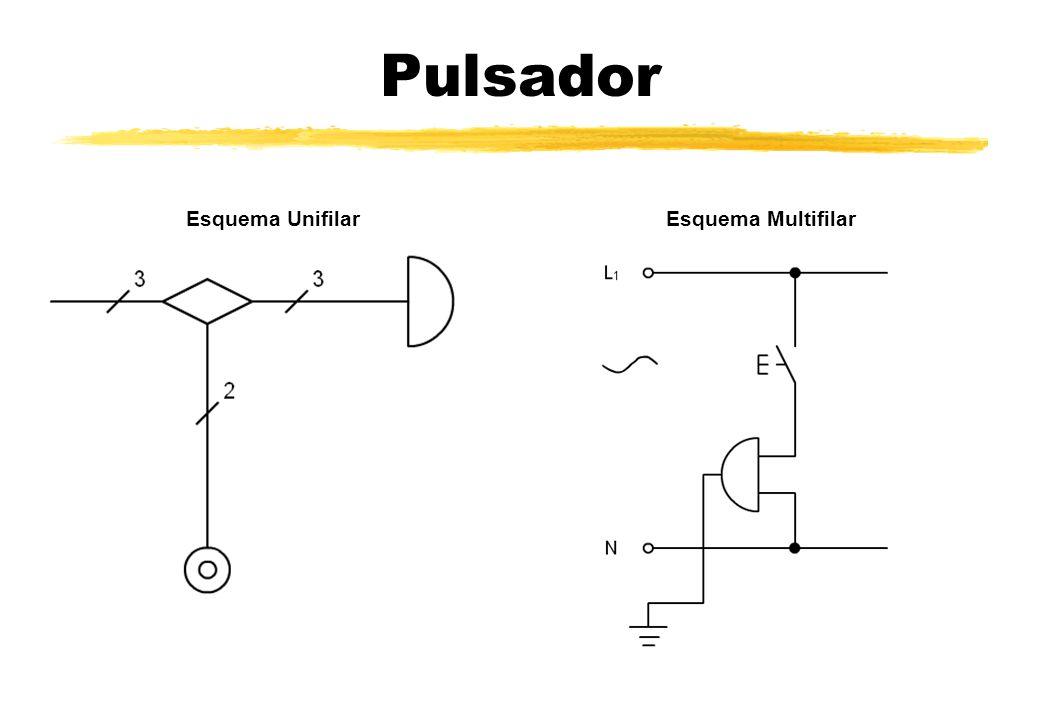 Pulsador Esquema Unifilar Esquema Multifilar