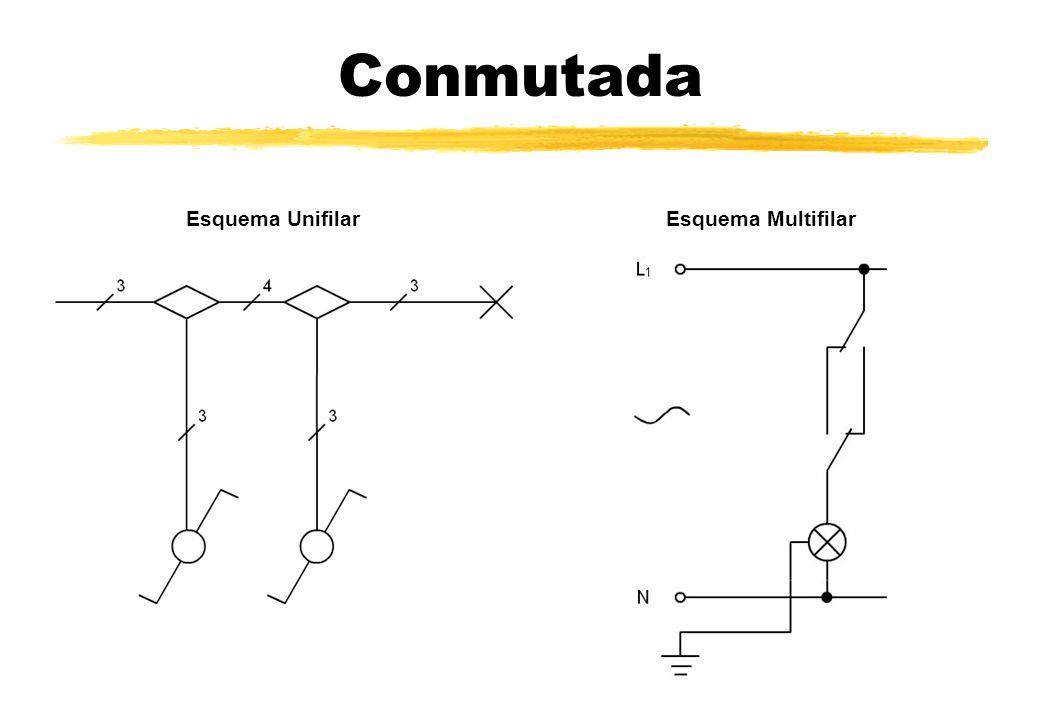 Conmutada Esquema Unifilar Esquema Multifilar