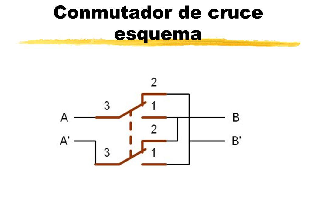 Conmutador de cruce esquema