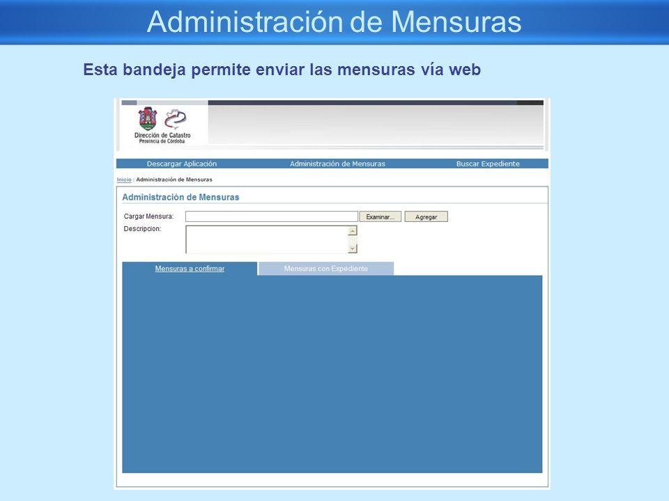 Administración de Mensuras