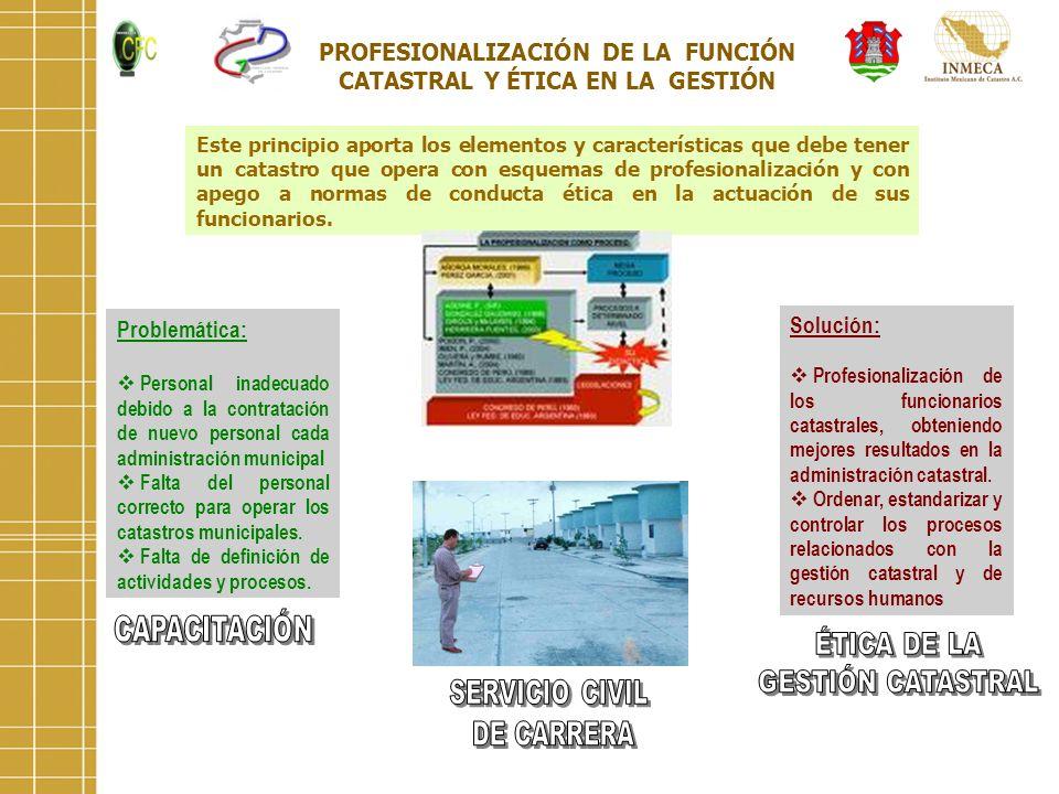 PROFESIONALIZACIÓN DE LA FUNCIÓN CATASTRAL Y ÉTICA EN LA GESTIÓN