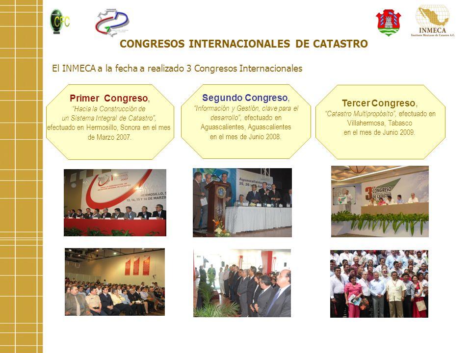 CONGRESOS INTERNACIONALES DE CATASTRO