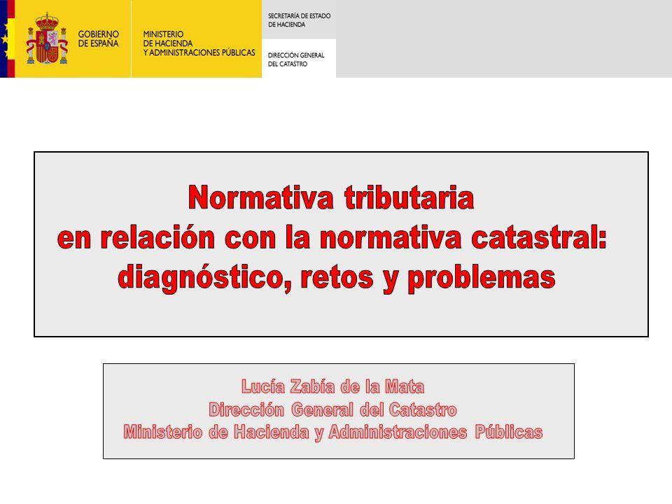 en relación con la normativa catastral: diagnóstico, retos y problemas
