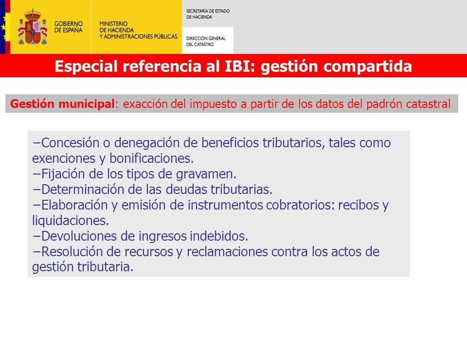 Especial referencia al IBI: gestión compartida