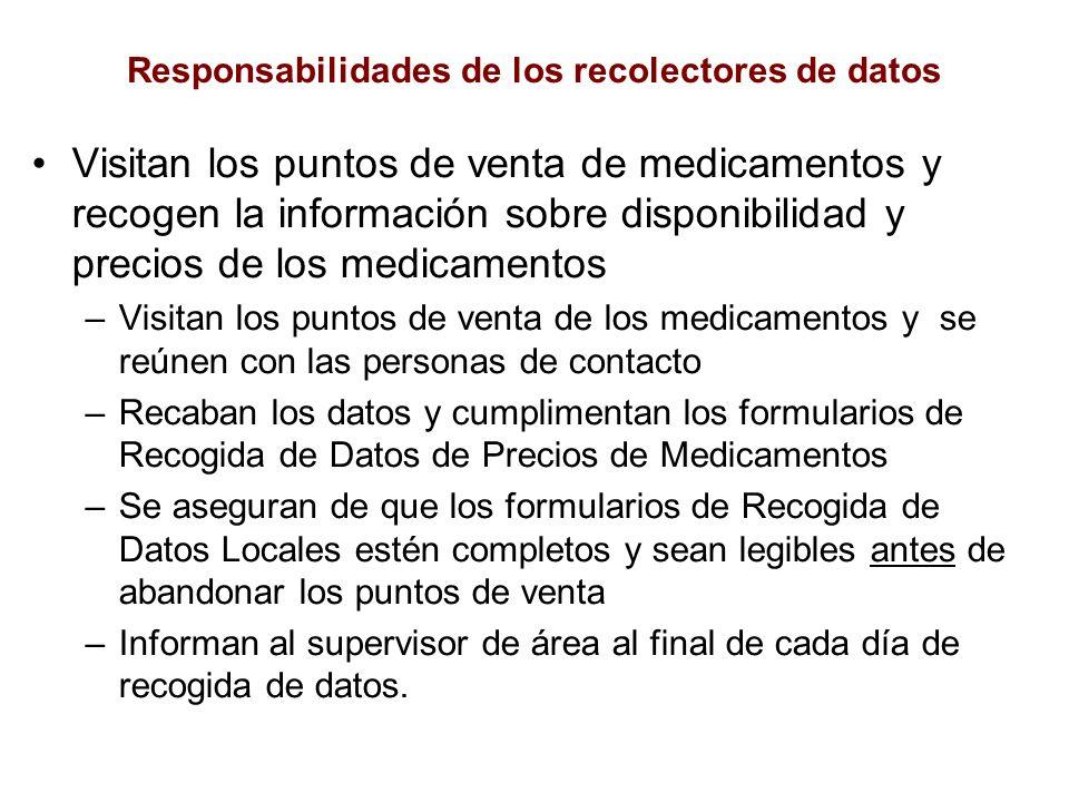 Responsabilidades de los recolectores de datos