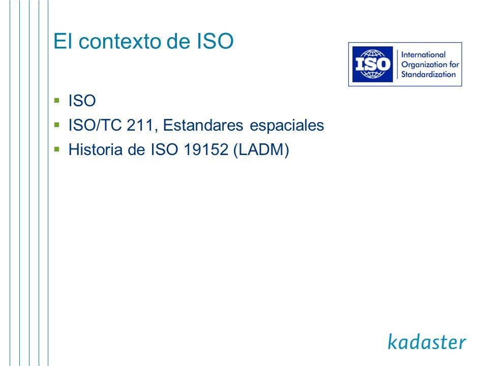El contexto de ISO ISO ISO/TC 211, Estandares espaciales