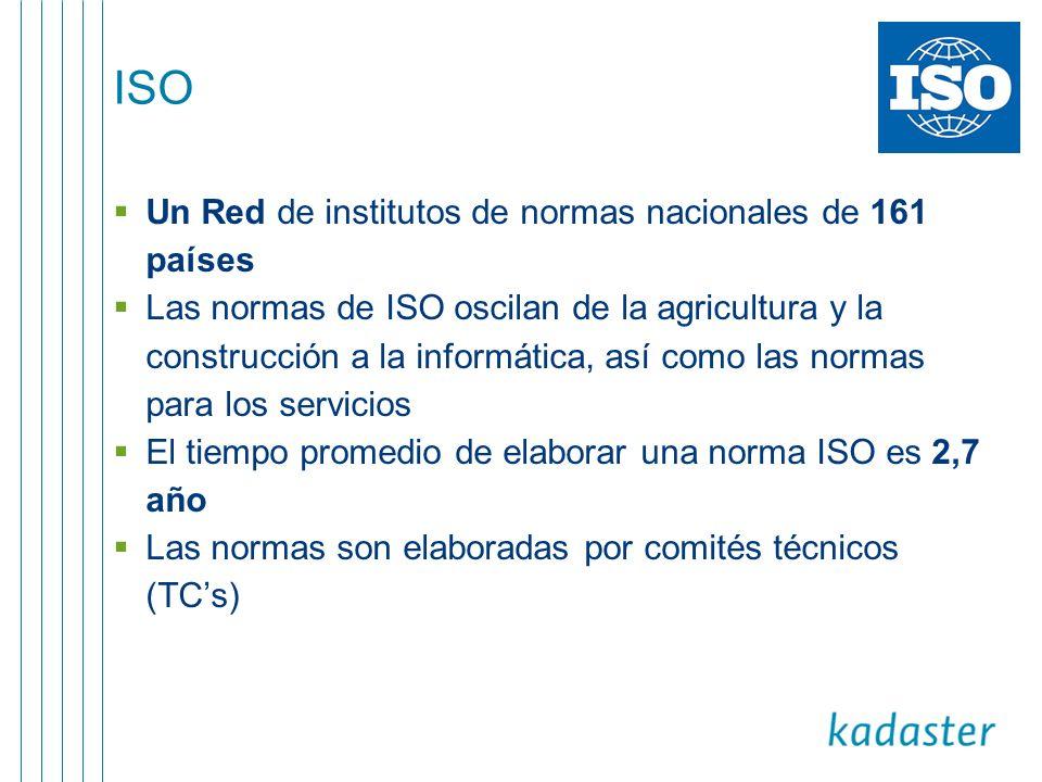 ISO Un Red de institutos de normas nacionales de 161 países