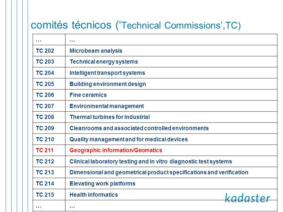 comités técnicos ('Technical Commissions',TC)