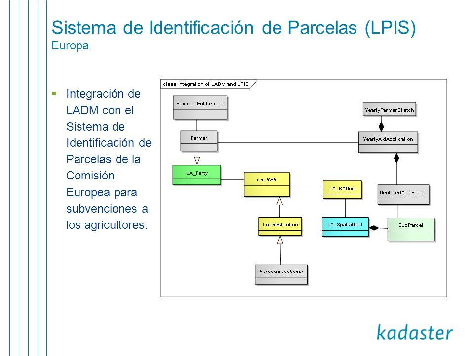 Sistema de Identificación de Parcelas (LPIS) Europa
