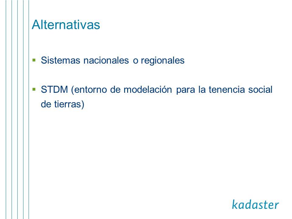 Alternativas Sistemas nacionales o regionales