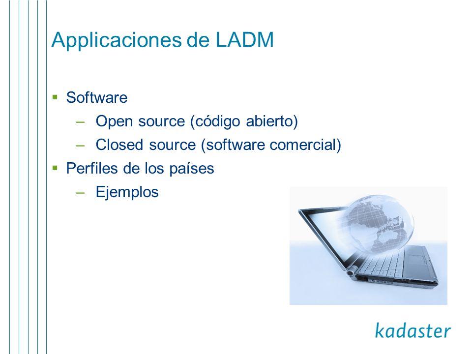 Applicaciones de LADM Software Open source (código abierto)