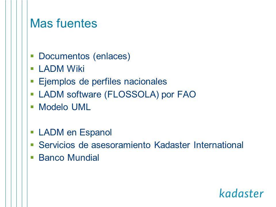 Mas fuentes Documentos (enlaces) LADM Wiki