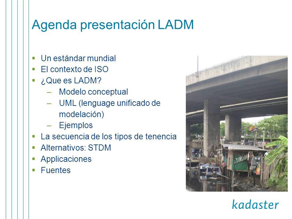 Agenda presentación LADM