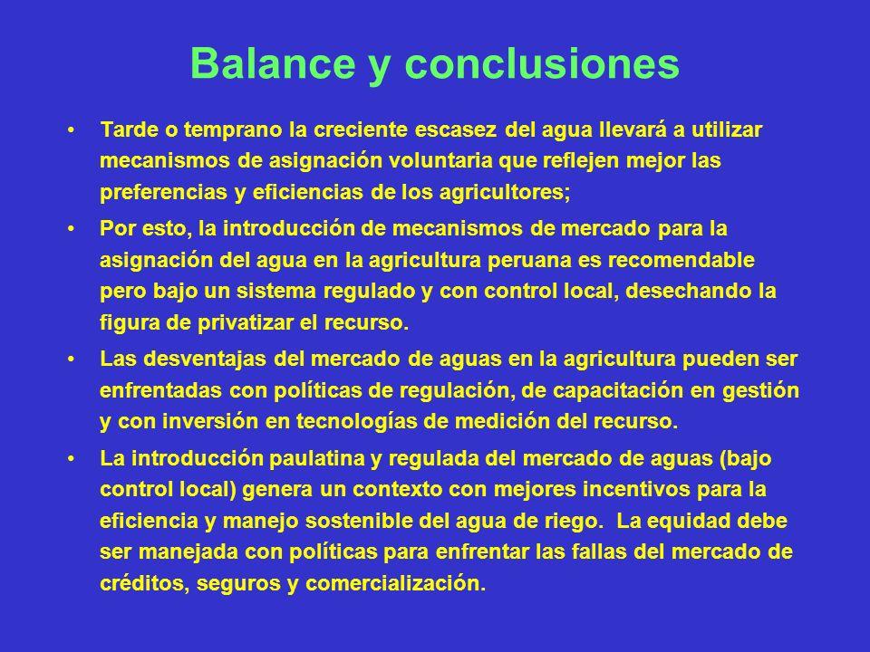 Balance y conclusiones