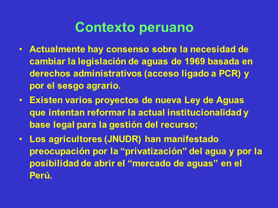 Contexto peruano