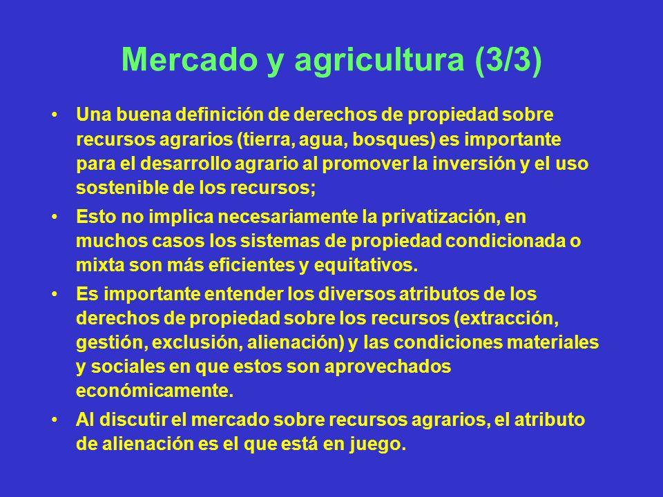 Mercado y agricultura (3/3)