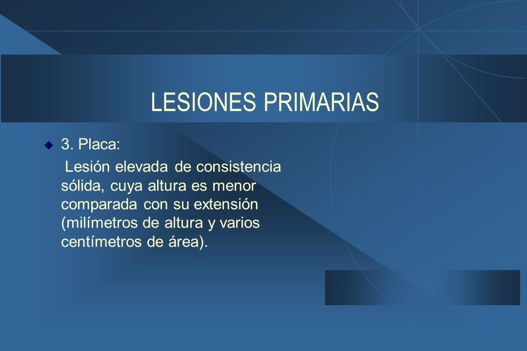 LESIONES PRIMARIAS 3. Placa: