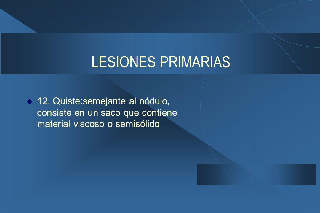 LESIONES PRIMARIAS 12.