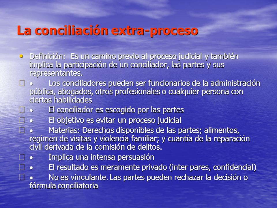 La conciliación extra-proceso