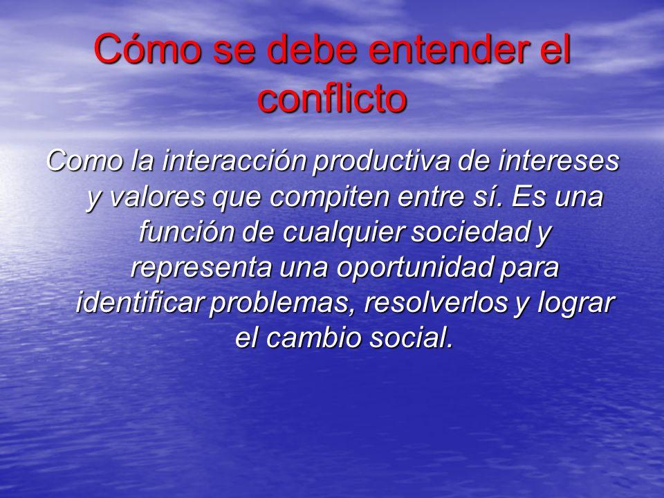 Cómo se debe entender el conflicto
