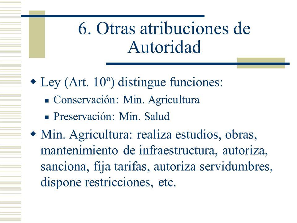 6. Otras atribuciones de Autoridad
