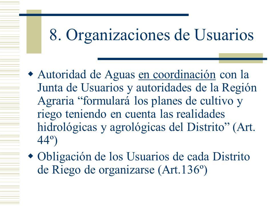 8. Organizaciones de Usuarios