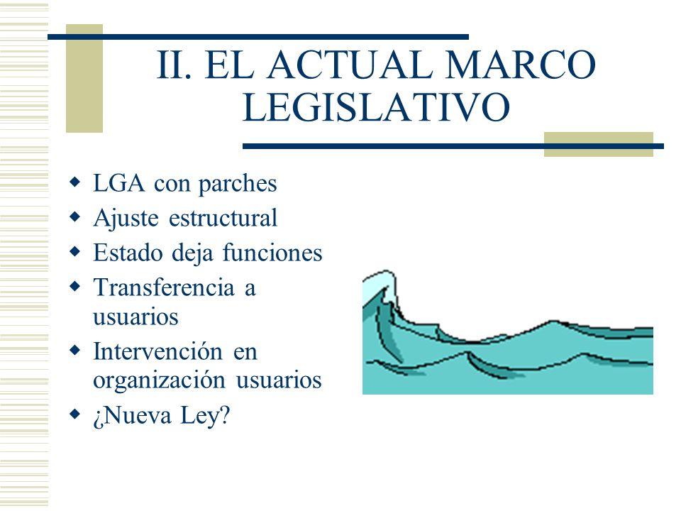 II. EL ACTUAL MARCO LEGISLATIVO
