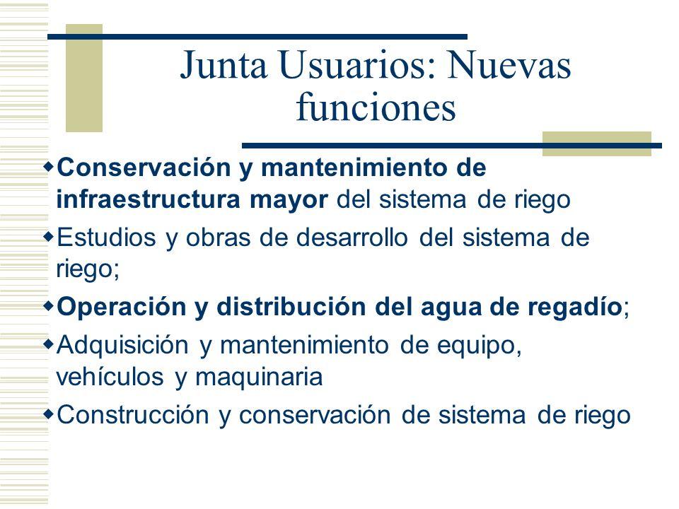 Junta Usuarios: Nuevas funciones