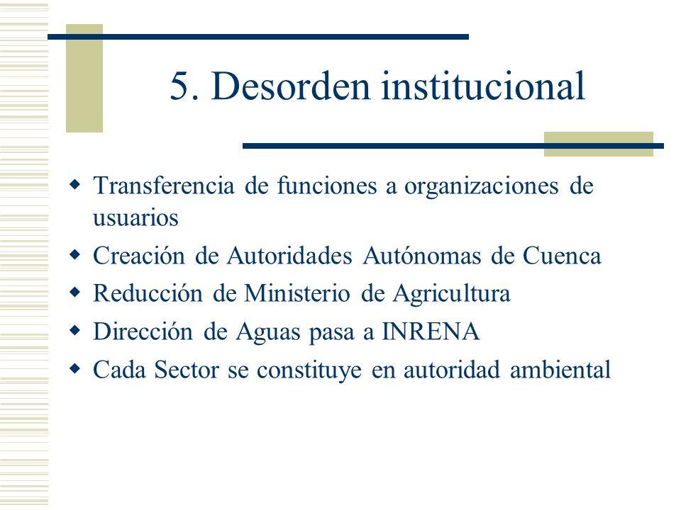5. Desorden institucional