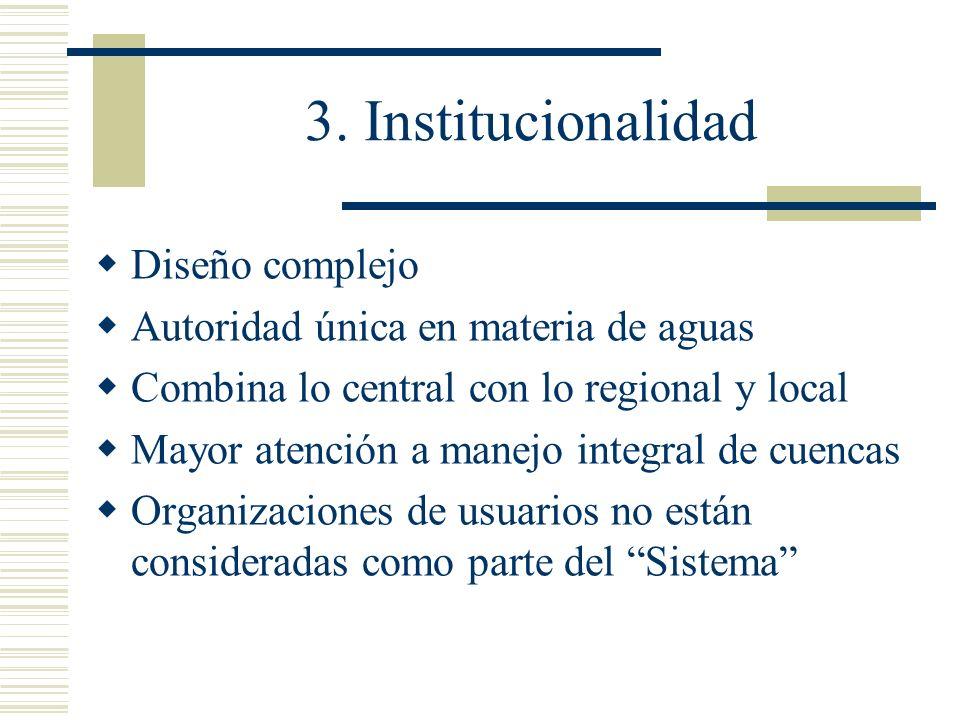 3. Institucionalidad Diseño complejo