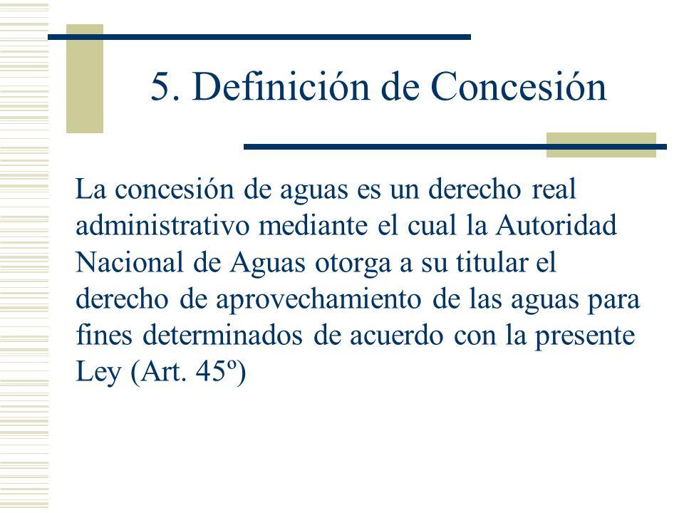 5. Definición de Concesión