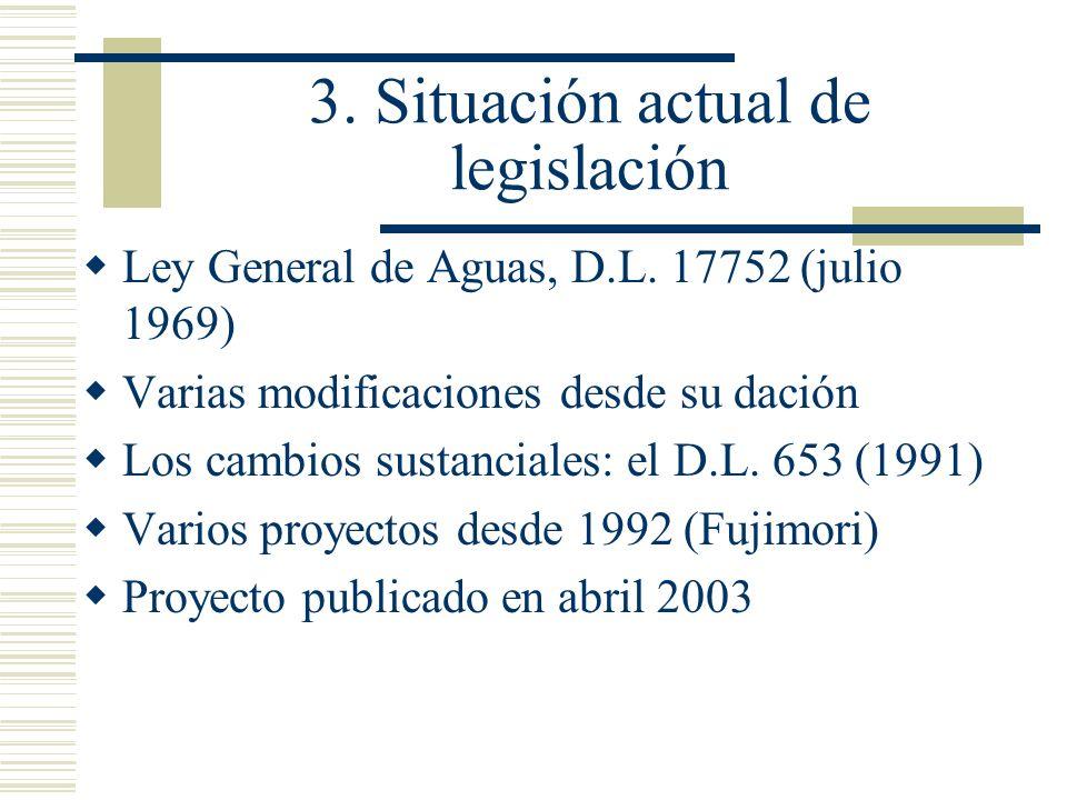 3. Situación actual de legislación