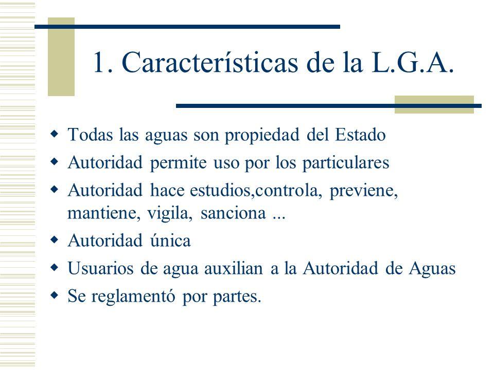 1. Características de la L.G.A.