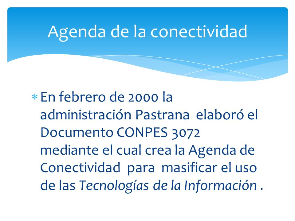 Agenda de la conectividad