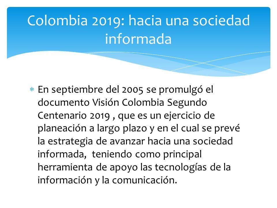 Colombia 2019: hacia una sociedad informada