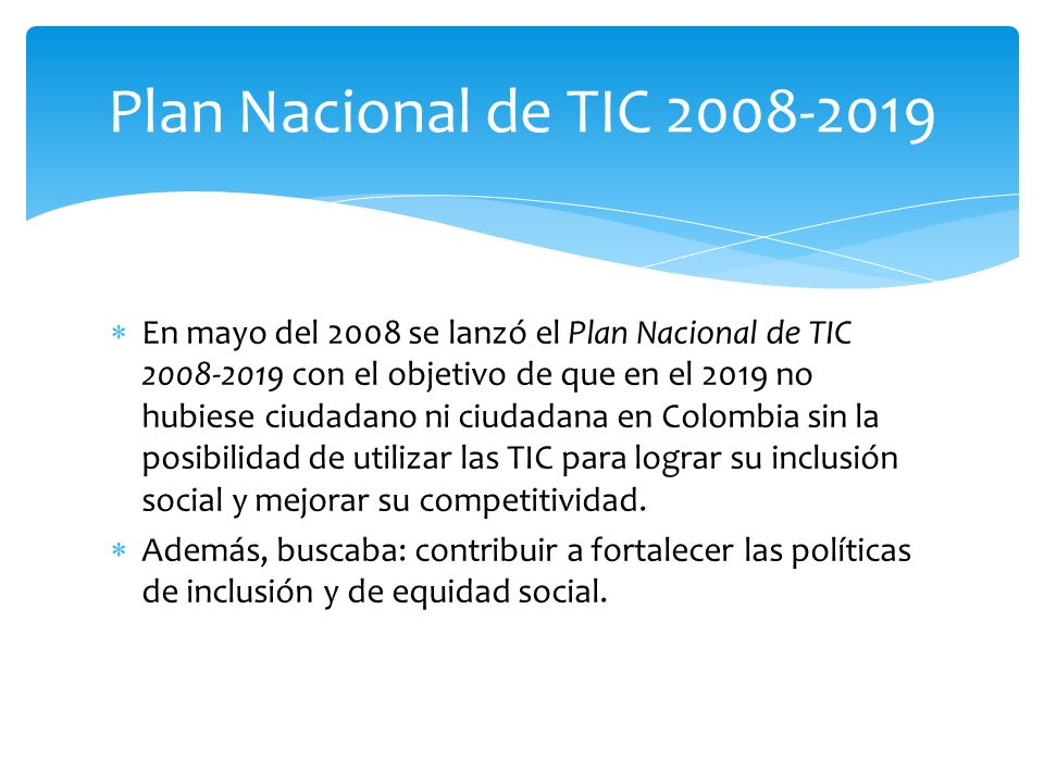 Plan Nacional de TIC 2008-2019