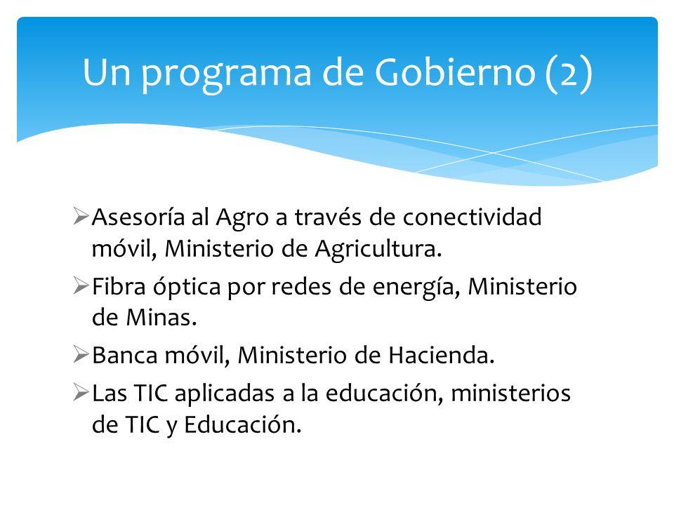 Un programa de Gobierno (2)