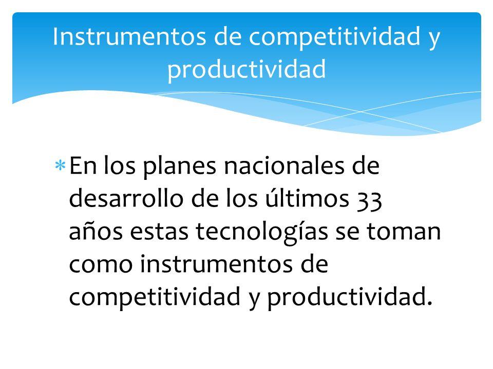 Instrumentos de competitividad y productividad